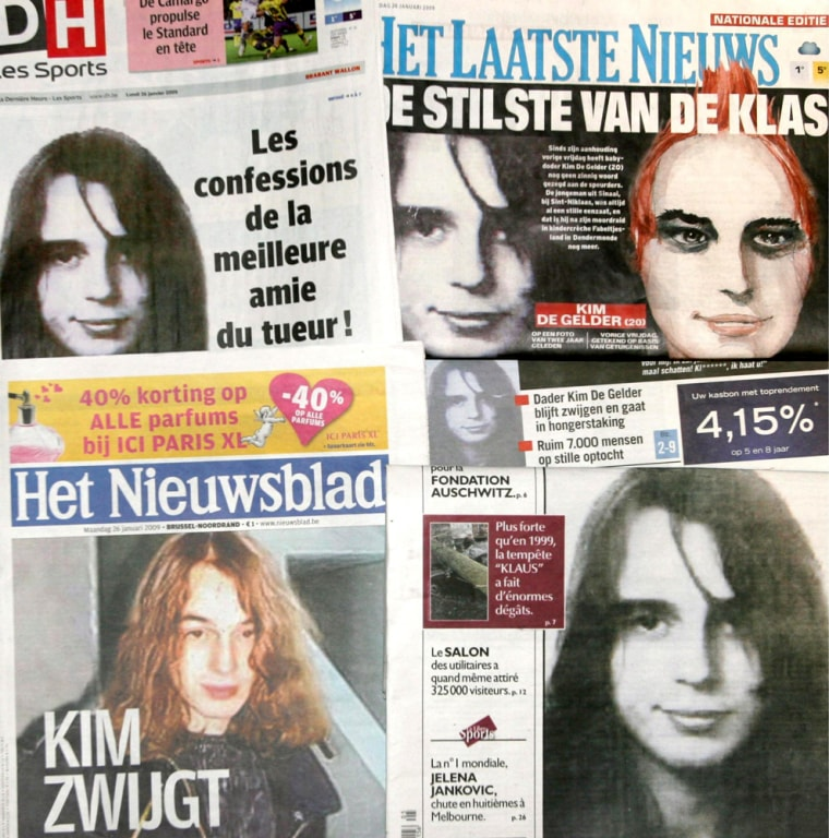 Image:  Belgian (Dutch-and Frenchspeaking) newspapers