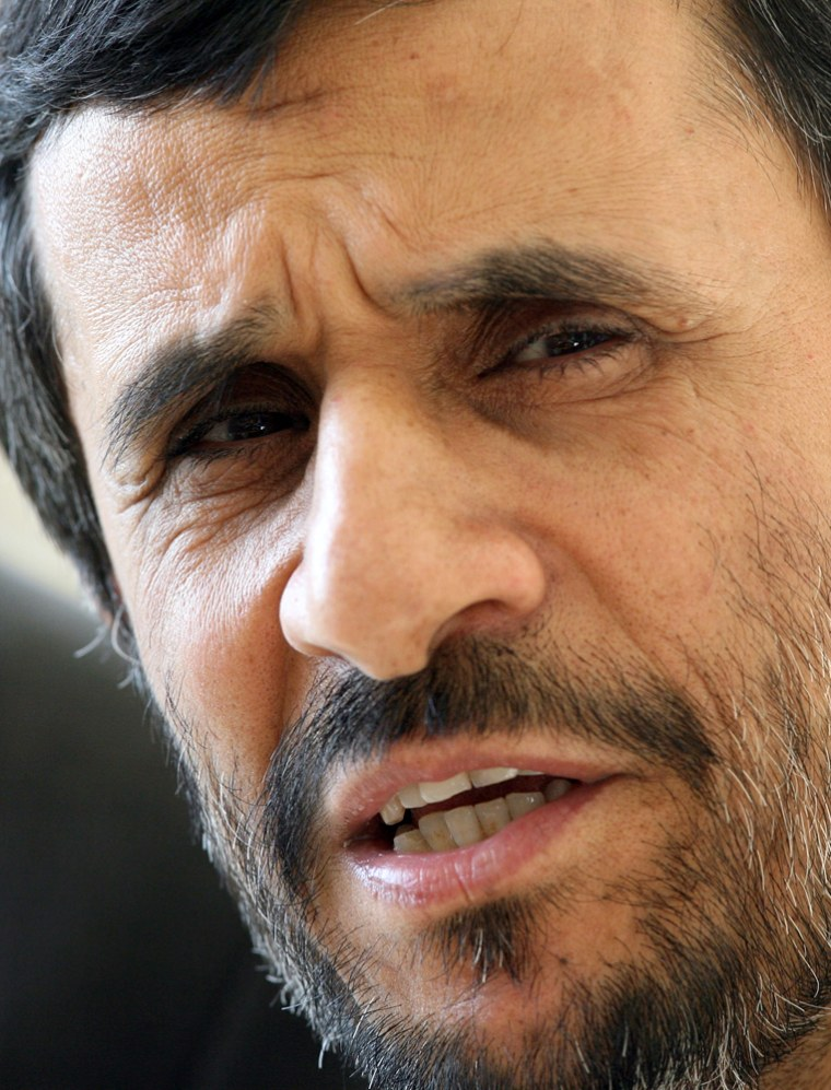 Iranian President Mahmoud Ahmadinejad called on the U.S. to withdraw its troops from around the world.