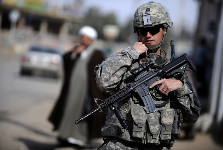 Image: A US soldier from Delta troop, 5-1 Cavalry