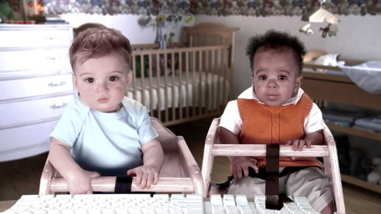 Out of the mouthes of babes? Two friends share stock tips in this E-Trade ad.