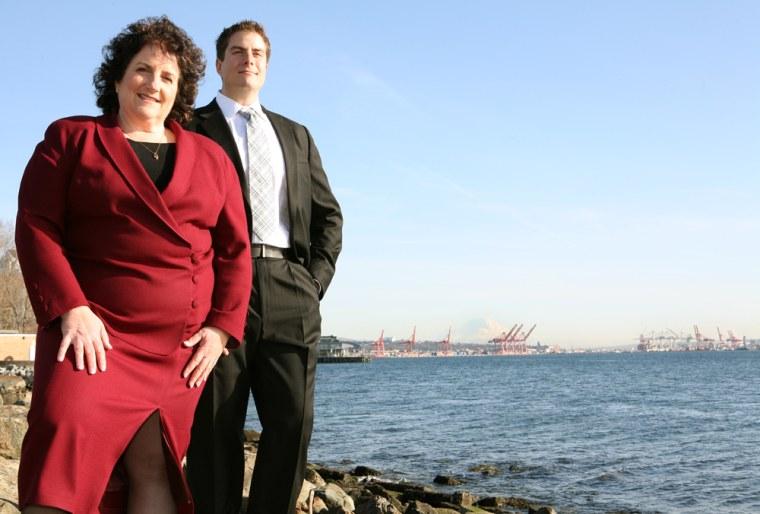 Image:  Alla Weinstein and her son Joshua Weinstein, Principle Power Inc.