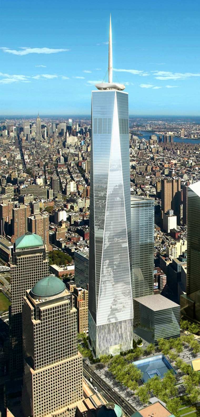 Image: artist rendering of One World Trade Center building