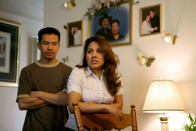 Image: Gabriela and Alfredo Aguirre, foreclosure.  Elkhart, Ind.