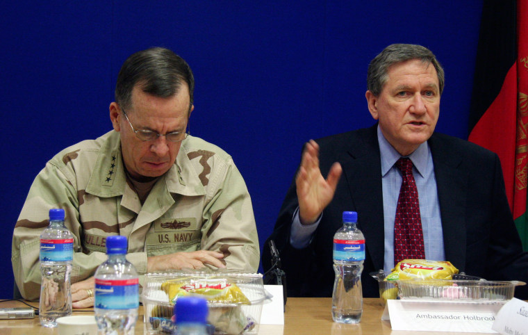 Adm. Mike Mullen and Richard Holbrooke