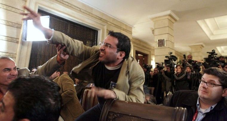 Image: Iraqi journalist Muntadhar al-Zeidi