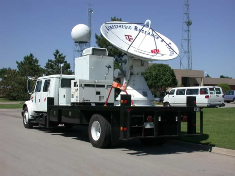 This mobile radar is among the tools expected to be deployed in May to study tornadoes.