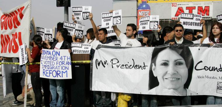 Image: Pro-immigration activists