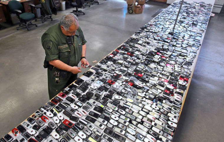 Image: Confiscated phones