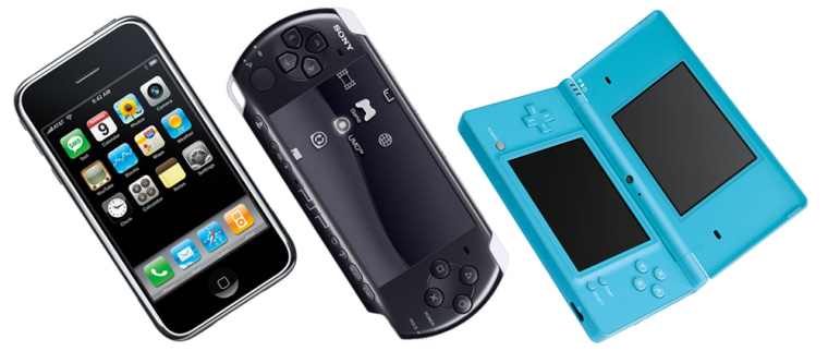 Apple's iPhone, Sony's PSP and Nintendo's DSi all want to be your handheld gaming machine of choice. They each have their pros and cons. So which gadget is right for you?