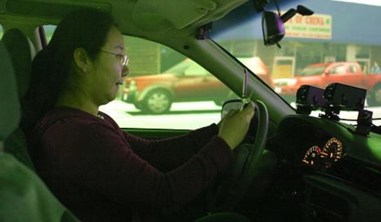Image: Cell phone in driving simulator