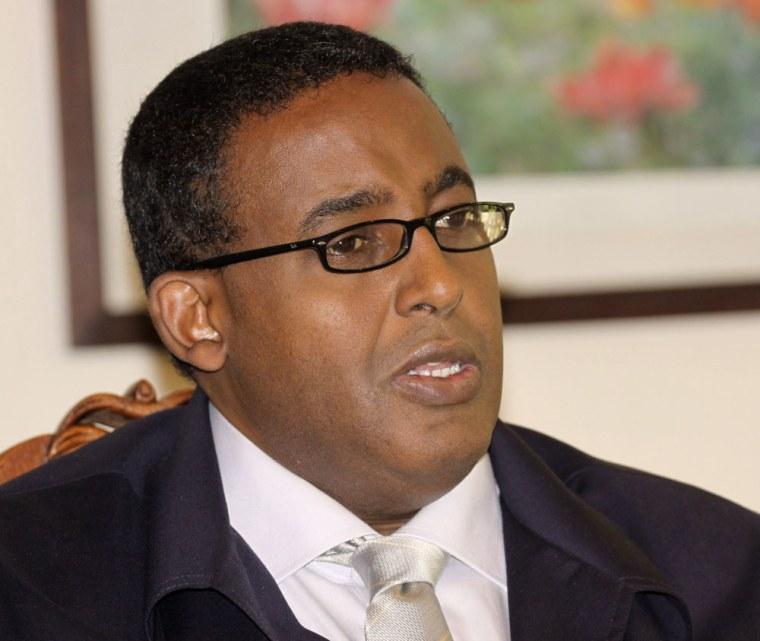 Image: Somalia's Prime Minister Omar Abdirashid Ali Sharmarke