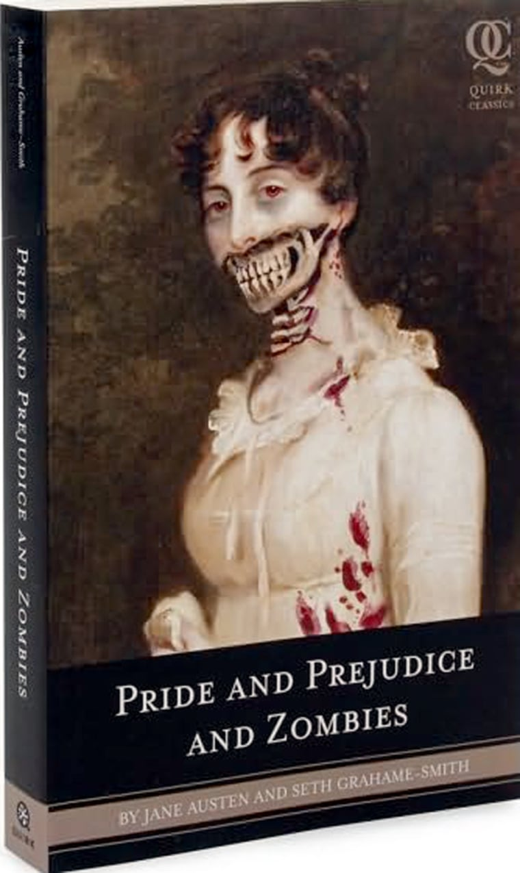 """The cover of """"Pride and Prejudice and Zombies,""""which is among theentres in the genre of Jane Austen spinoffs."""