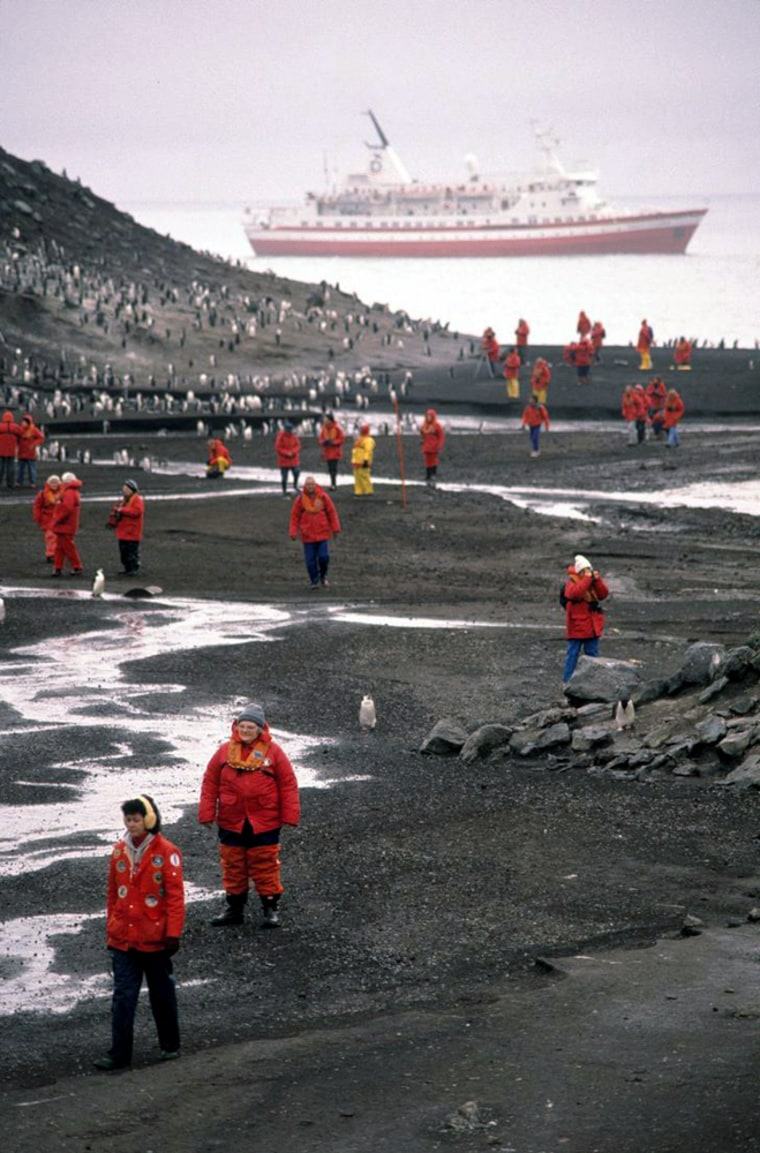 Increased traffic in cruise ships and tourists has prompted parties to the 50-year-old Antarctic Treaty to agree on imposing restrictions on the size of cruise ships that land passengersin Antarctica and the number of people they can bring ashore at any one time.