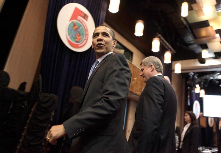 Image: Barack Obama, Stephen Harper