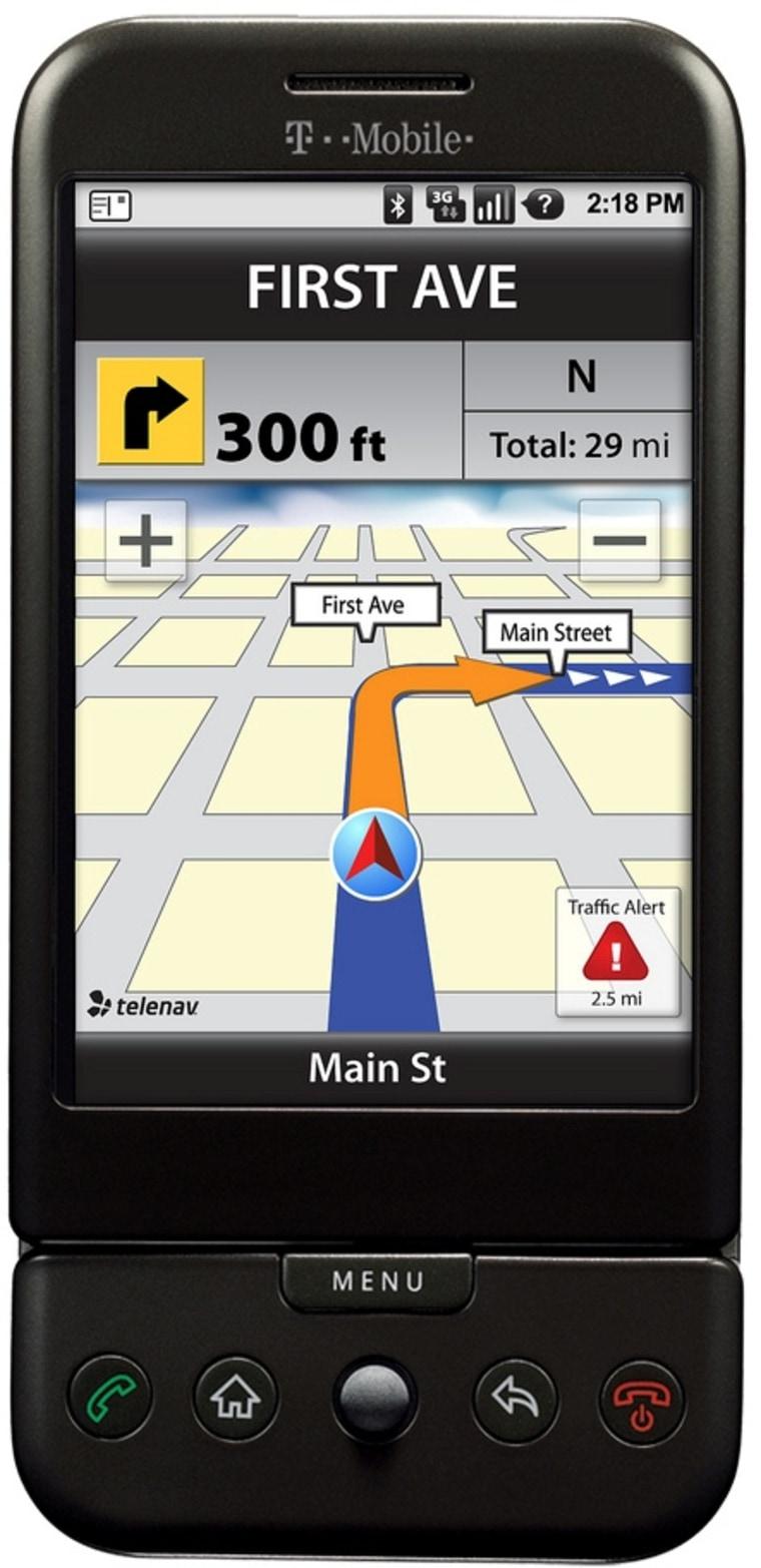 Image: TeleNav GPS on G1 phone