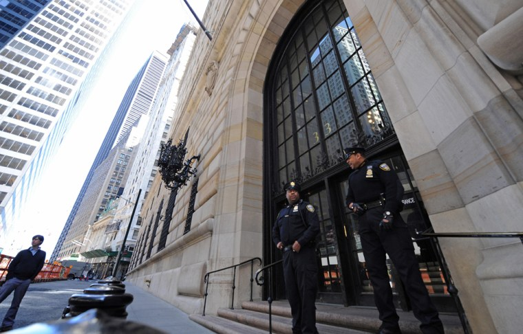 At the Federal Reserve Bank of New York, the guard was up both figuratively and in reality.