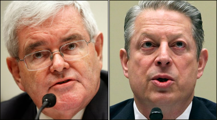 Image: Newt Gingrich and Al Gore