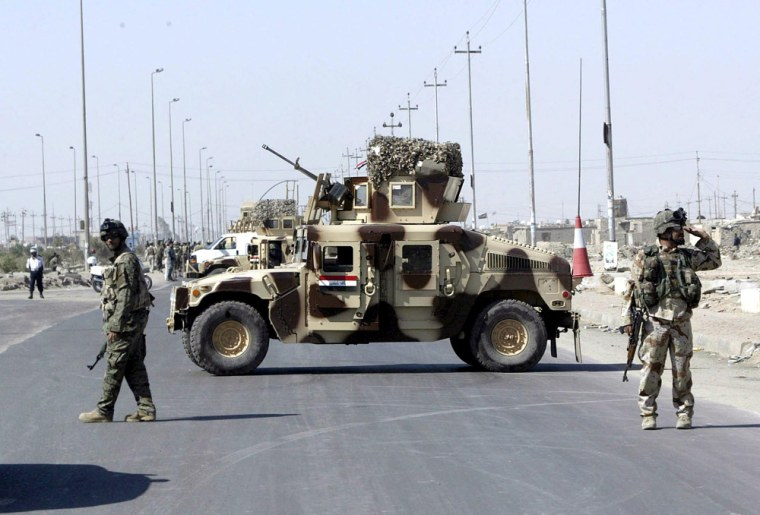 Image: Bomb attack against British troops in Basra