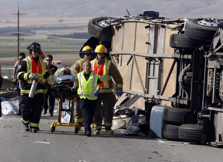 Image: Calif. bus crash
