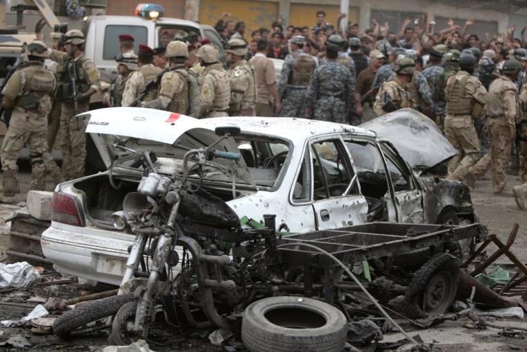 Image: car bomb in Baghdad
