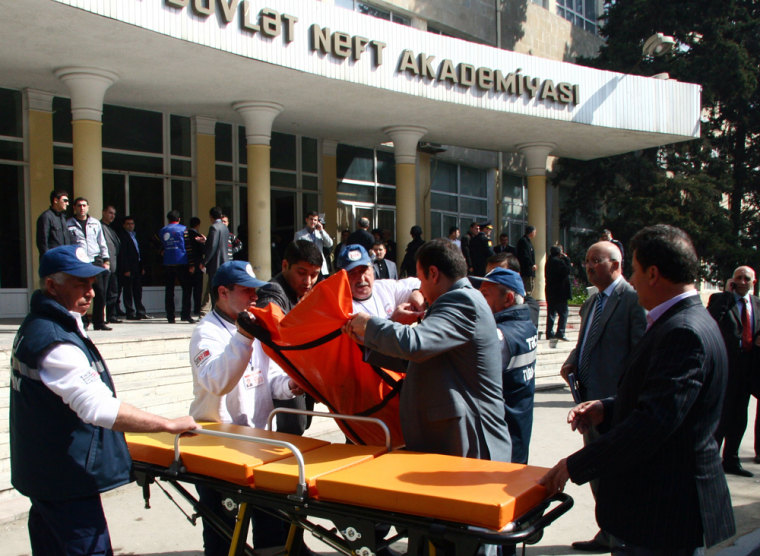 Image: Site of a bloody shooting at the Azerbaijan State Oil Academy in Baku