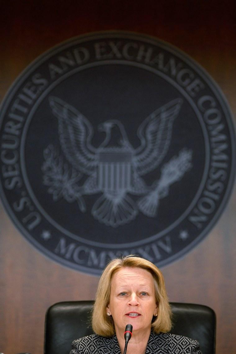 Image: U.S. Securities and Exchange Commission Chairman Mary L. Schapiro