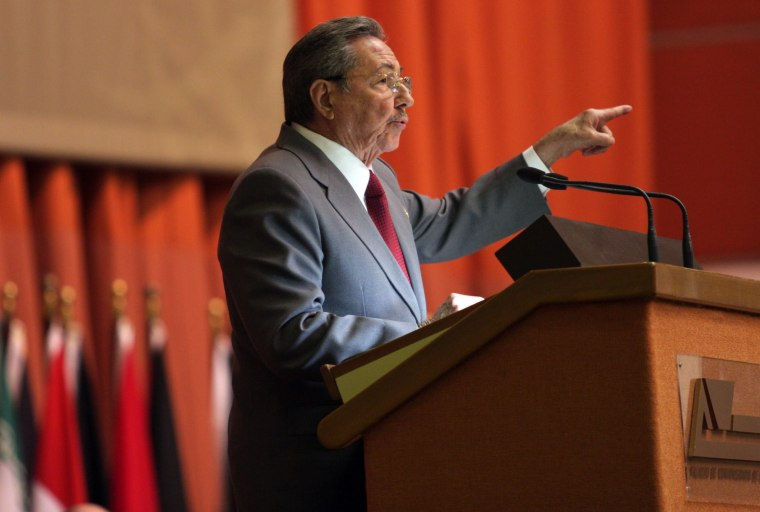Image: Raul Castro Speaks At Non-Aligned Minister Summit In Cuba