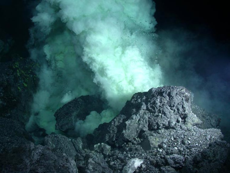 Image: Lava erupts onto the seafloor