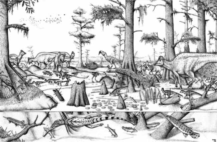 Image: Grand Prairie 73 million years ago