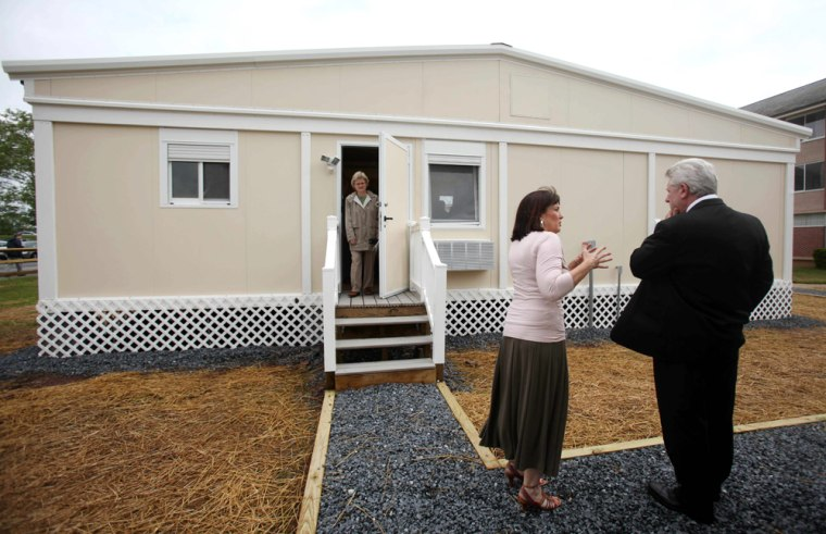 Image: A newly designed mobile home during a tour at the Federal Emergency Management Agency's National Emergency Training Center, in Emmitsburg, Md.