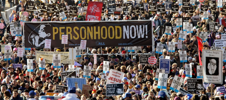 Image: Anti-abortion activists march in Washington