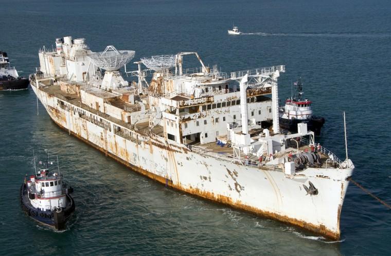 Image: Retired U.S. missile tracking ship Gen. Hoyt S. Vandenberg