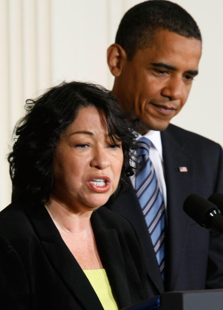 Image: President Obama and Sonia Sotomayor