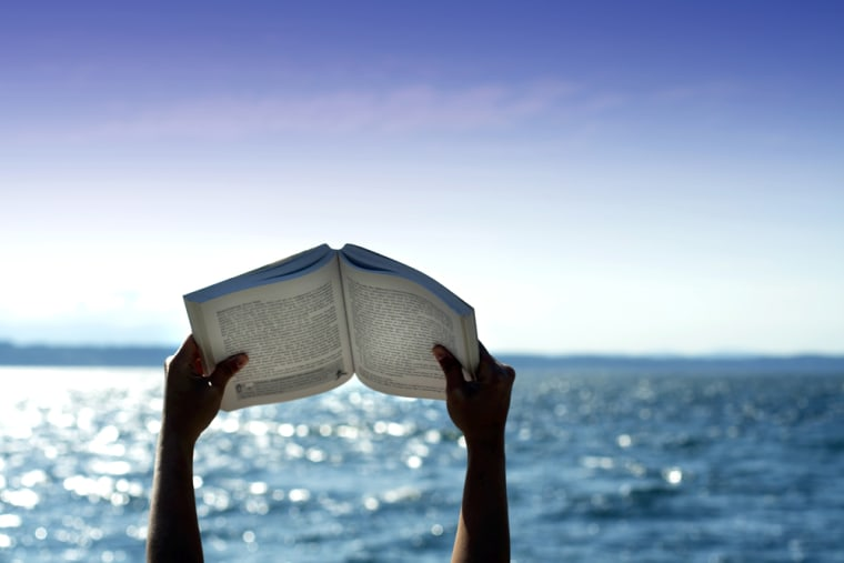 Image: reading on the beach
