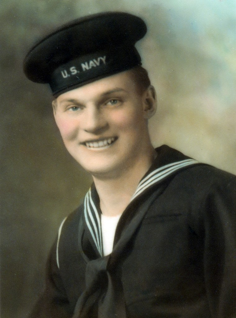 Steve Sadlon,originally from Little Falls, N.Y.,was aged 20 when his landing craft was sunk during an attack by a German E-boat only 40 days before the Normandy invasion.