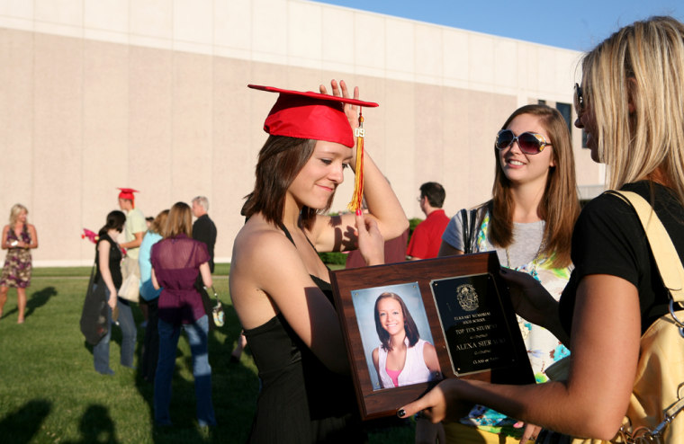 Alexa Sieracki, 16,graduatedearly from ElkhartMemorial High School. Alexa was accepted to theResident Honors Program at the University of Southern California in Los Angeles. Being able to pay for the prestigious program was a question for Alexa's family this spring.