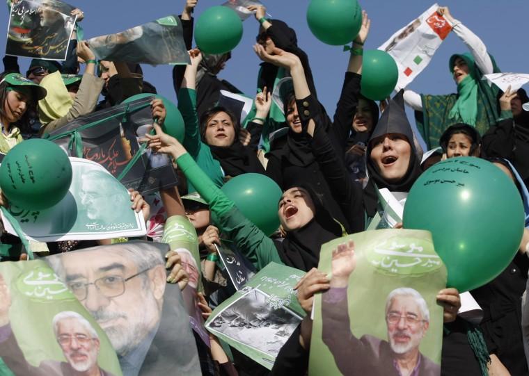 Image: Iran election rally