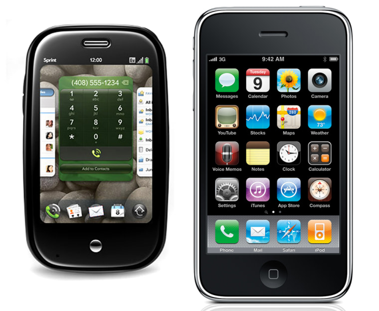 The 8-gigabyte PalmPre sells for $199 after signing a two-year contract with Sprint, the phone's exclusive carrier; the new 16-gigabyte iPhone 3GS will cost $199 with a two-year contract from AT&T, the iPhone's exclusive carrier in the United States.