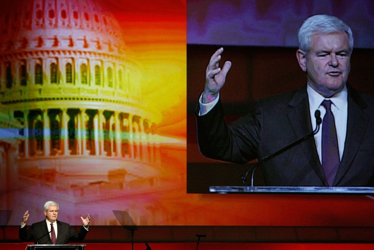 Image: Newt Gingrich addresses annual Senate-House Republican dinner