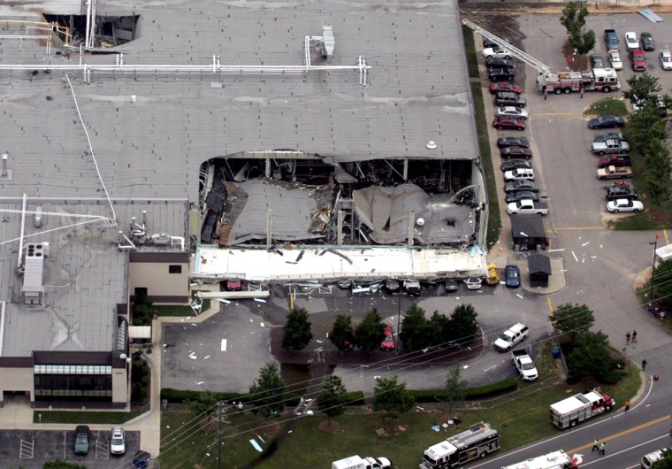 Image: Garner, NC building collapse
