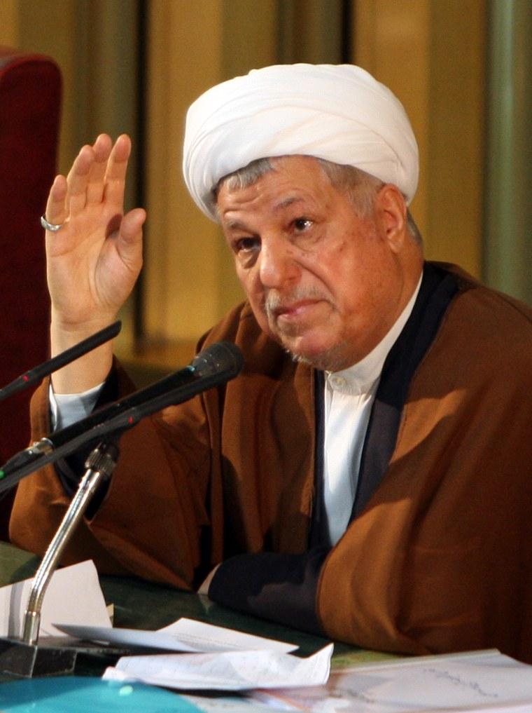 Image: Former Iranian president Akbar Hashemi Rafsanjani