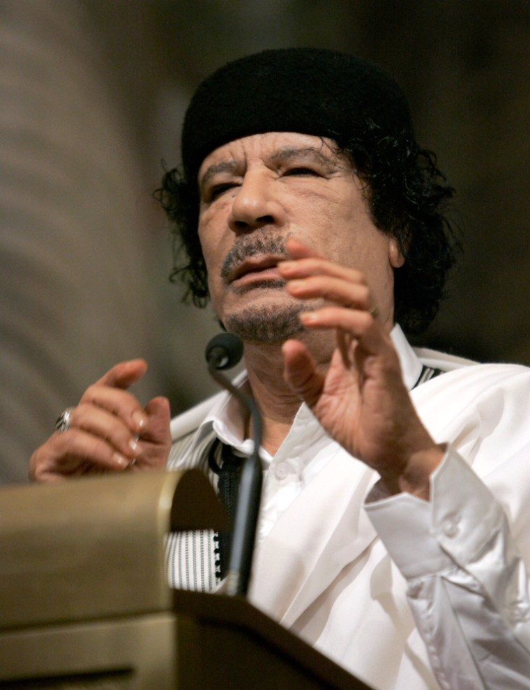 Image: Libyan leader Moammar Gadhafi