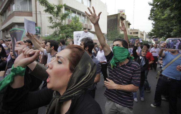 Image: Election protests in Tehran, Iran
