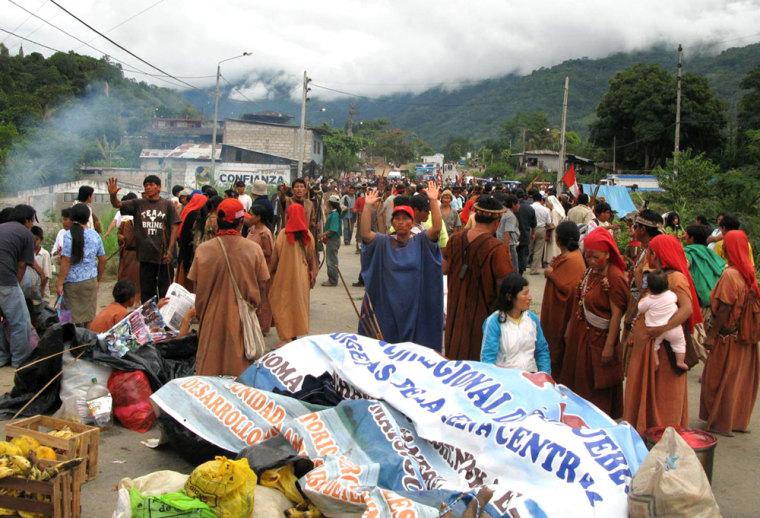 Image: Amazon protests