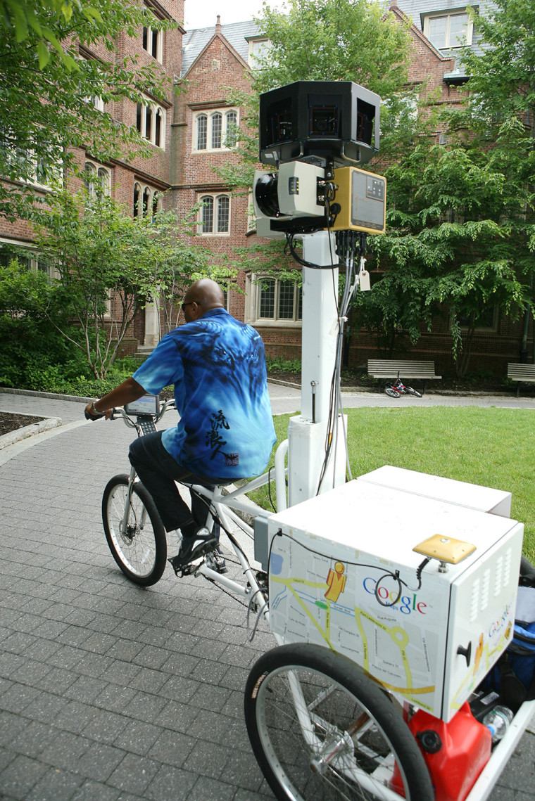 Image: Google camera on tricycle