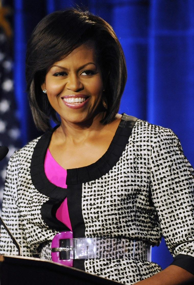 Image: U.S. first lady Michelle Obama