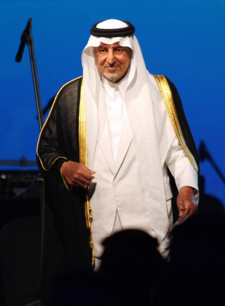 Saudi Prince Khaled al-Faisal bin Abdul