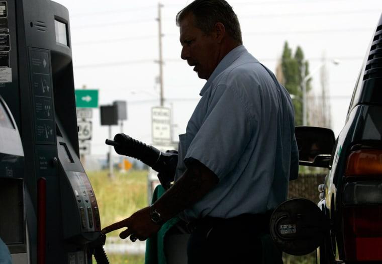 Image: gas station attendant