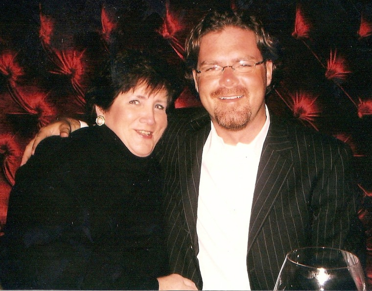 Image: Handout of US aid worker John Granville and his mother