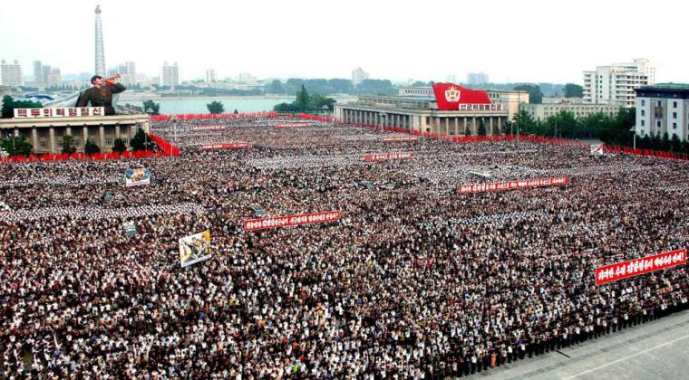 Image:Rally in Pyongyang